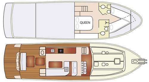 Alaska 47 Sedan deck layout