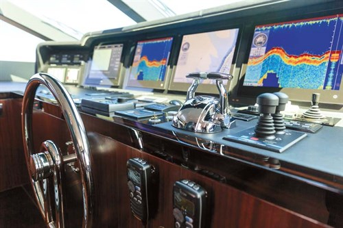 Helm on Horizon RP110 superyacht