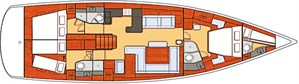 Beneteau Oceanis 60 layout plan