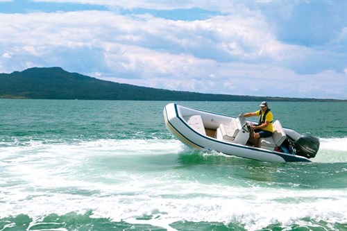 Lancer RL440 RIB on the water