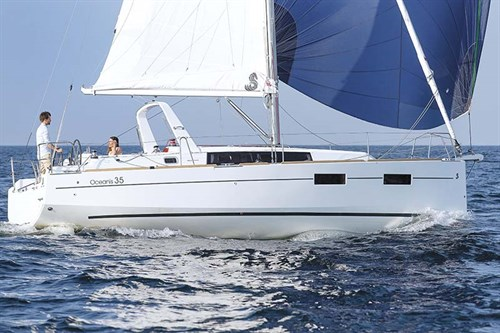 Beneteau Oceanis 35 on the water