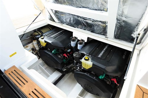 Twin Volvo Penta D3 marine engines