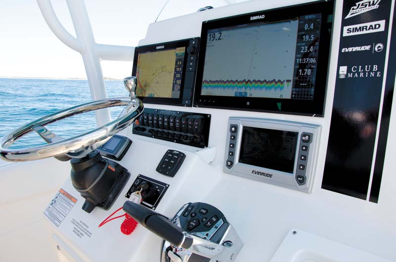 Simrad marine electronics package