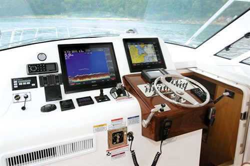 Garmin marine electronics on Hatteras 45