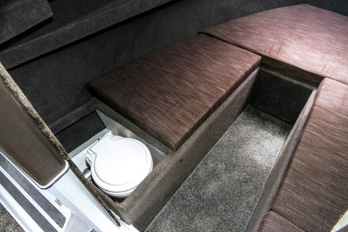 8m White Pointer Boats cabin toilet